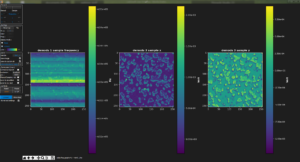 image PFM (freq, X et Y) de nanofils de ZnO dans une matrice isolante